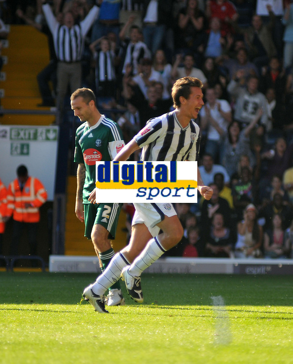 Photo: Tony Oudot/Richard Lane Photography. West Bromwich Albion v Plymouth Argyle. Coca Cola Championship. 12/09/2009. <br /> GOAL! Marek Cech scores his second of the game to make it 3-1 to WBA