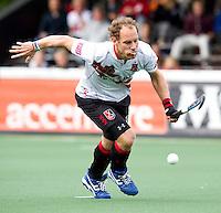 AMSTELVEEN - Teun Rohof van Amsterdam tijdens de hockey hoofdklassewedstrijd tussen de mannen van Amsterdam en Den Bosch (5-5). COPYRIGHT KOEN SUYK