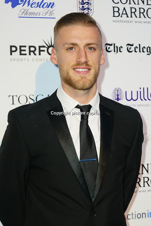 Daniel Bentley Arrives at London Football Awards 2018 at Battersea Evolution on 1st March 2018,  London, UK.