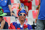 France fan during the Euro 2016 final between Portugal and France at Stade de France, Saint-Denis, Paris, France on 10 July 2016. Photo by Phil Duncan.