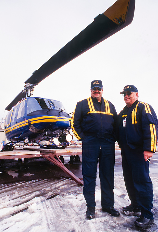 Alaska. Barrow. Search and rescue helicopter team.