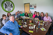 Jilly Cooper and guests during the Vanarama National League match between Forest Green Rovers and Chester FC at the New Lawn, Forest Green, United Kingdom on 14 April 2017. Photo by Shane Healey.