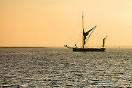 Thames Sailing Barge at anchor at Harty Ferry