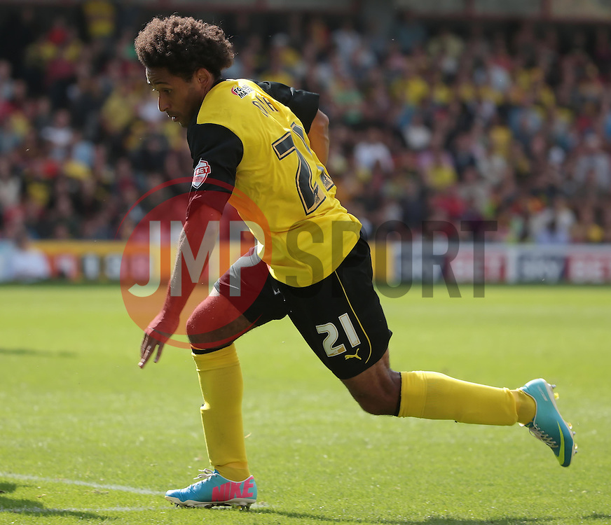 Watford's Ikechi Anya  - Photo mandatory by-line: Nigel Pitts-Drake/JMP - Tel: Mobile: 07966 386802 25/08/2013 - SPORT - FOOTBALL -Vicarage Road Stadium - Watford -  Watford v Nottingham Forest - Sky Bet Championship