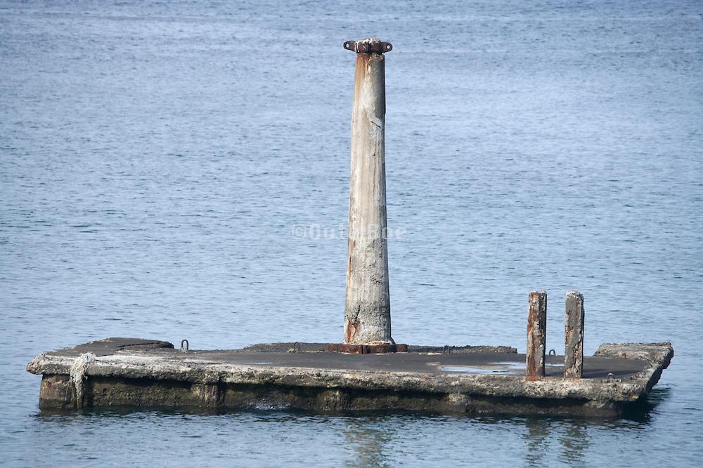 old pillar to moor boats Japan Yokosuka Kanagawa area