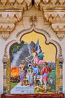 Inde, Etat de Gujarat, Baroda ou Vadodara, Lakshmi Vilas Palace, palais de style anglo-indien, construit par le Maharadja Sayajirao Gaekwad III en 1890, mosaiques // India, Gujarat, Baroda or Vadodara, Lakshmi Vilas Palace built in 1890 by Maharajah Sayajirao Gaekwad, mosaic