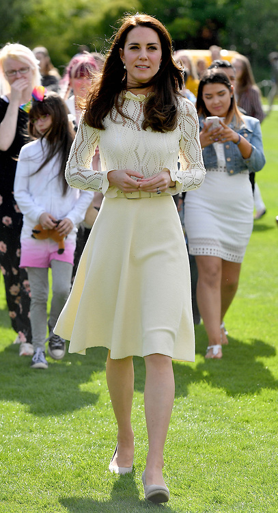 The Duke and Duchess of Cambridge and Prince Harry host Party at The Palace, a special party in the grounds of Buckingham Palace to honour the children of those who have died serving in the Armed Forces, in London, UK, on the 13th May 2017. Picture by Andrew Parsons/WPA-Pool. 13 May 2017 Pictured: Catherine, Duchess of Cambridge, Kate Middleton. Photo credit: MEGA TheMegaAgency.com +1 888 505 6342