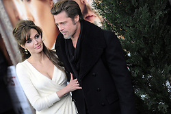 Angelina Jolie and Brad Pitt arriving for the World premiere of 'The Tourist' at Ziegfeld Theatre in New York City, NY, USA on December 6, 2010. Photo by Mehdi Taamallah /ABACAPRESS.COM