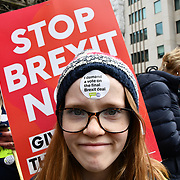A million of people March to Stop Brexit - Put It To The People : People's Vote March on 23 March 2019, London, UK.