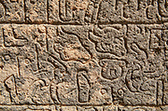 Pictures & images of the North Gate ancient Hittite stele stone slabs with carvings of the Luwian language hieroglyphics known as the Karatepe bilingual, which allowed academics to translate Hittite hieroglyphs. 8th century BC discovered in 1946. Karatepe Aslantas Open-Air Museum (Karatepe-Aslantaş Açık Hava Müzesi), Osmaniye Province, Turkey.