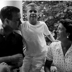 HS315   George H. and Barbara Bush enjoy vacation with their son, George W. Bush, Rye, NY,<br /> Summer 1955.<br /> Photo Credit:  George Bush Presidential Library
