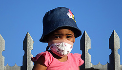 South Africa - Cape Town - 020520.  Leo Kennedy ,3, with a mask from Parow resident Rika de Klerk WHO sells affordable washable face masks of fabric that comply with medical standards.  Picture: Ian Landsberg/African News Agency (ANA).