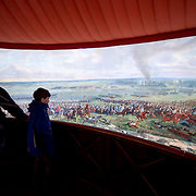 The Panorama of the Battle of Waterloo, built in 1912 for the centenery celebrations of the battle and situated next to the Butte du Lion (Lion's Mound) on the former battleground. The painting on the wall is 100 metres long and 12 metres high, painted by Louis Dumoulin, and a team of military artists. It portrays the battlefield at about 6 p.m. on June 18, 1815.