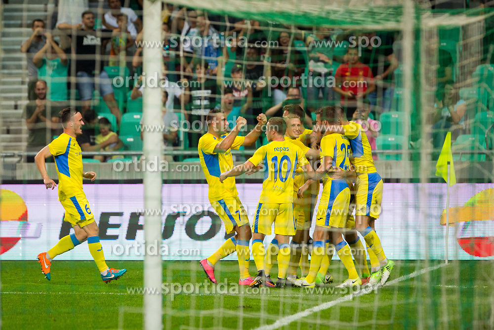 Players of NK Domzale celebrates during football match between NK Domzale and Olympique de Marseille in First game of UEFA Europa League playoff round, on August 17, 2017 in SRC Stozice, Ljubljana, Slovenia. Photo by Ziga Zupan / Sportida