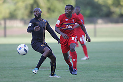 01042018 (Pietermaritzburg) Zithulele Nhlontho plays with a ball when Royal Eagles played a nil draw against the university of Pretoria yesterday At Harry Gwala stadium.<br /> Picture: Motshwari Mofokeng