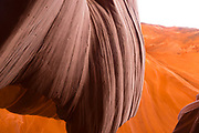Image of Antelope Canyon, a slot canyon near Page, Arizona on the Navajo Indian Reservation.