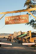 Mock old town in Bryce, Utah, United States of America