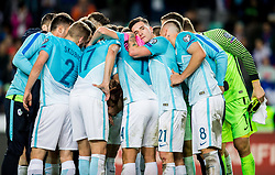 Players of Slovenia after the football match between National Teams of Slovenia and Scotland of Fifa 2018 World Cup European qualifiers, on October 8, 2017 in SRC Stozice, Ljubljana, Slovenia. Photo by Vid Ponikvar / Sportida