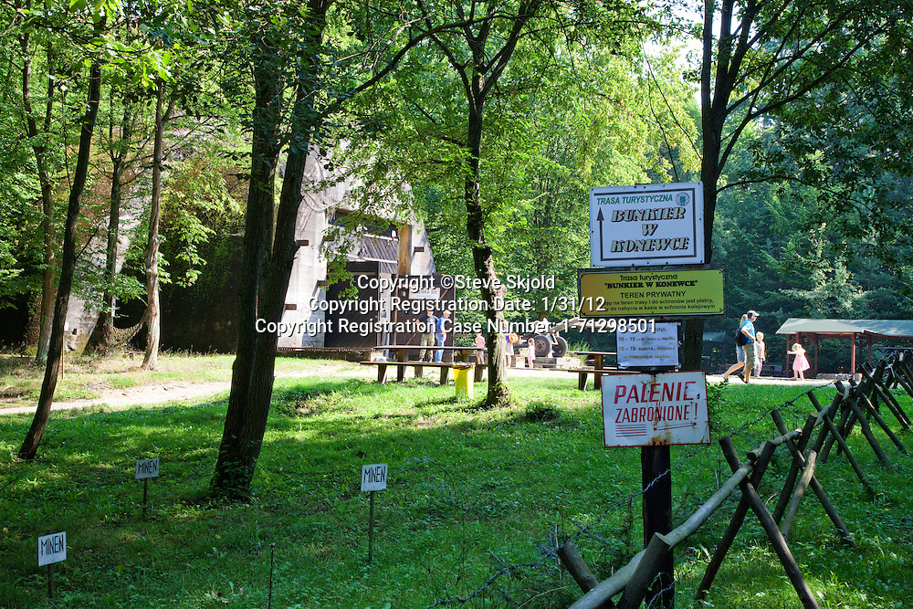 Entrance to Hitler's Railway Bunker Nazi German military headquarters during WWII. Konewka Central Poland