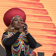 Disney the Lion King, on stage at West End Live on June 17 2018  in Trafalgar Square, London.