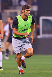 August 7, 2018 - East Rutherford, NJ, U.S. - EAST RUTHERFORD, NJ - AUGUST 07:  Roma defender Federico Fazio (20) warms up prior to the International Champions Cup game between Real Madrid and AS Roma on August 7, 2018, at Met Life Stadium in East Rutherford, NJ.  (Photo by Rich Graessle/Icon Sportswire) (Credit Image: © Rich Graessle/Icon SMI via ZUMA Press)