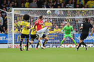 Anthony Knockaert shoots at goal during the EFL Sky Bet Championship match between Burton Albion and Brighton and Hove Albion at the Pirelli Stadium, Burton upon Trent, England on 17 September 2016.