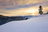 Winter sunset over McIntyre Creek, Yukon