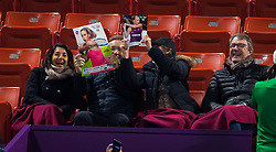 February 14, 2019 - Doha, QATAR - Elise Mertens Fans at the net after their quarter-final match at the 2019 Qatar Total Open WTA Premier tennis tournament (Credit Image: © AFP7 via ZUMA Wire)