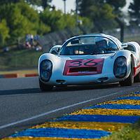 """#36, Porsche 910 (1967), drivers: Jurgen """"Uwe Bruschnik"""" Rudolph, Stephen Mitas, grid 5, on 06/07/2018 at the 24H of Le Mans, 2018"""