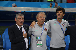 June 15, 2018 - Sochi, Russia - June 15, 2018, Russia, Sochi, FIFA World Cup, First round, Group B, Portugal vs Spain at Fisch Stadium. Player of the national team Fernando Santos. (Credit Image: © Russian Look via ZUMA Wire)