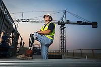 Tyler Lee, superintendent for Skanska construction company