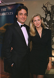 COUNT ALLESANDRO GUERRINI-MARALDI and his fiance, model KATRINA SKEPPER, at a dinner in London on October 16th 1997.MCF 4