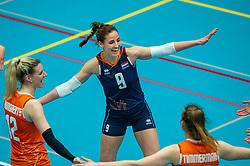 Myrthe Schoot of Netherlands in action during the Women's friendly match between Belgium and Netherlands at Topsporthal Beveren on may 09, 2021 in Beveren, Belgium (Photo by RHF Agency/Ronald Hoogendoorn)