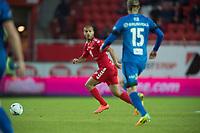 Fotball<br /> 22.10.2016<br /> Tippeligaen<br /> Brann Stadion<br /> Brann - Molde<br /> Amin Nouri (L) , Brann<br /> Per Egil Flo (R) , Molde<br /> Foto: Astrid M. Nordhaug