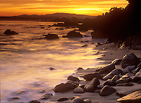 Sunset at Lover's Point in Pacific Grove, California.