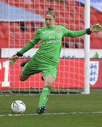 February 23, 2019 - Sheffield, England, United Kingdom - Sari Van Veenendaal (Arsenal) clears the ball during the  FA Women's Continental League Cup Final  between Arsenal and Manchester City Women at the Bramall Lane Football Ground, Sheffield United FC Sheffield, Saturday 23rd February. (Credit Image: © Action Foto Sport/NurPhoto via ZUMA Press)