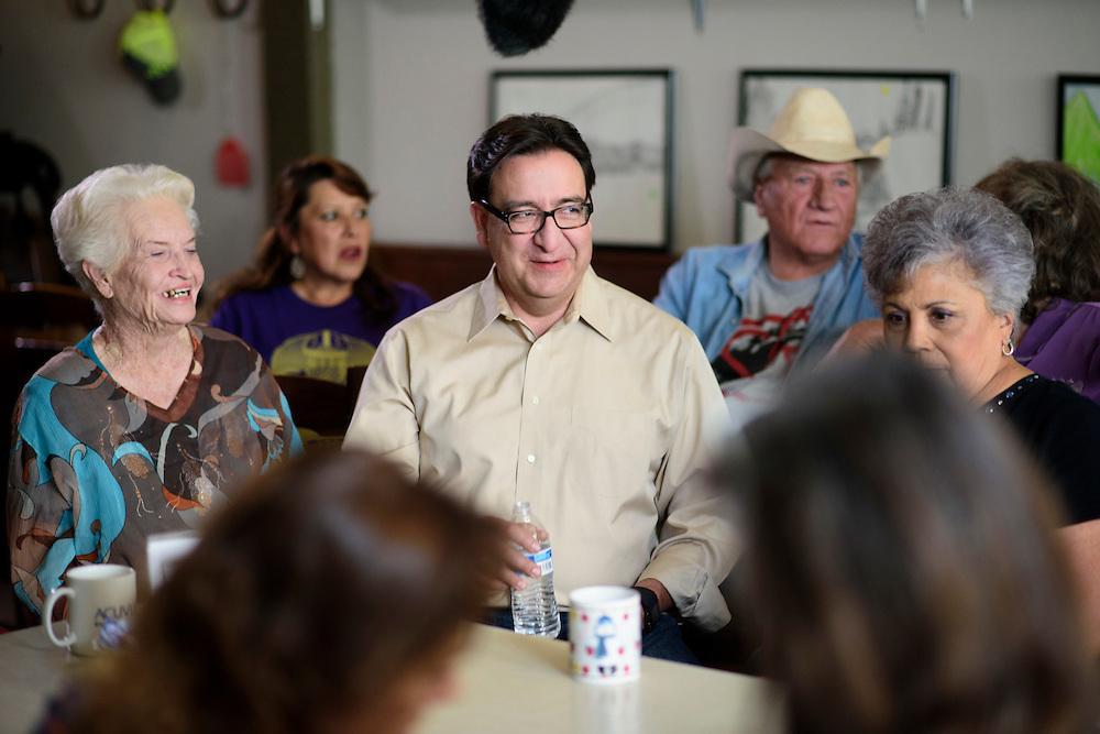 Alpine, Texas - August 26, 2016: Pete Gallego for U.S. Congress, TX-23.<br /> <br /> CREDIT: Matt Roth