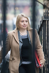 Downing Street, London, February 7th 2017. Secretary of State for Culture, Media and Sport Karen Bradley arrives in Downing Street for the weekly UK cabinet meeting.