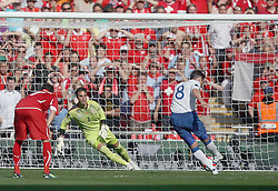 04.06.2011, Wembley Stadium, London, ENG, UEFA EURO 2012, Qualifikation, England vs Switzerland, im Bild Frank Lampard scores from the penalty spiot the 2-1 after Jack Wilshere of England has been  fouled by  Johan Djourou of Switzerland during England vs Switzerland  for the UEFA 2012  Group G at the Wembley Stadium  in London    on 04/06/2011. EXPA Pictures © 2011, PhotoCredit: EXPA/ IPS/ Marcello Pozzetti +++++ ATTENTION - OUT OF ENGLAND/UK and FRANCE/FR +++++