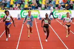 DafneSchippersof Netherlands, DinaAsher-Smithof Great Britain in action on the 100 meter during FBK Games 2021 on 06 june 2021 in Hengelo.
