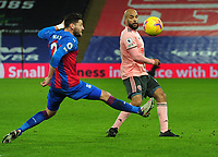 Football - 2020 / 2021 Premier League - Crystal Palace vs Sheffield United - Selhurst Park<br /> <br /> David McGoldrick of Sheff Utd and Joel Ward of Crystal Palace<br /> <br /> <br /> COLORSPORT/ANDREW COWIE