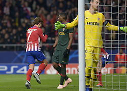November 28, 2018 - Madrid, Madrid, Spain - Antoine Griezmann of Atletico de Madrid celebrates after the goal during a match between Atletico de Madrid vs Monaco for UEFA Champions League  2018-2019 at Wanda Metropolitano Stadium on November 28, 2018 in Madrid, Spain. (Credit Image: © Patricio Realpe/NurPhoto via ZUMA Press)