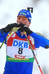 David Ekholm (SWE) at Men 20 km Individual at E.ON Ruhrgas IBU World Cup Biathlon in Hochfilzen (replacement Pokljuka), on December 18, 2008, in Hochfilzen, Austria. (Photo by Vid Ponikvar / Sportida)