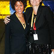 NLD/Amsterdam/20101007 - Europesche premiere Cirque du Soleil Totem, Corine Niessing en collega van TBWA Busted