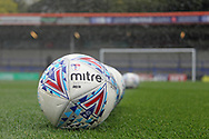 Mitre Match balls pre-match during the EFL Sky Bet League 1 match between Rochdale and Gillingham at Spotland, Rochdale, England on 23 September 2017. Photo by Daniel Youngs.