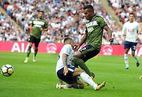 Football - 2017 / 2018 pre-season friendly - Tottenham Hotspur vs. Juventus<br /> <br /> Kieran Trippier of Tottenham is found by  Mattia De Sciglio at Wembley.<br /> <br /> COLORSPORT/ANDREW COWIE