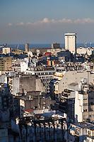 VISTA DE LA CIUDAD DE BUENOS AIRES HACIA EL RIO DE LA PLATA DESDE EL HOTEL PANAMERICANO, ARGENTINA (PHOTO © MARCO GUOLI - ALL RIGHTS RESERVED)