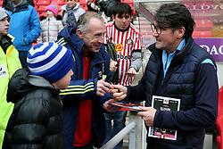 Luton Town interim manager Mick Harford meets Sunderland fans
