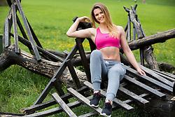 Mojca Cesar posing during official photo shoot of Miss Sporta Slovenije 2016, on April 23, 2016 in Tivoli, Ljubljana, Slovenia. Photo by Vid Ponikvar / Sportida