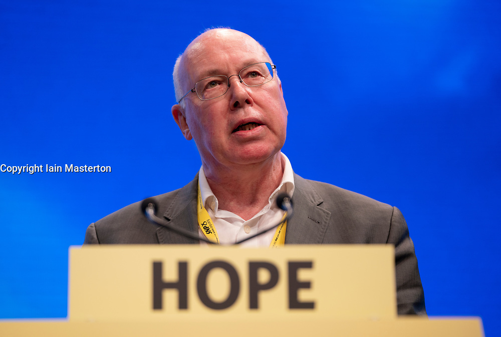 Edinburgh, Scotland, UK. 27 April, 2019. SNP ( Scottish National Party) Spring Conference takes place at the EICC ( Edinburgh International Conference Centre) in Edinburgh. Pictured; George Kerevan addressing the delegates on Day 1.